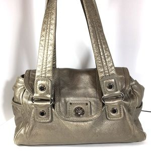 Marc Jacobs Totally Turnlock Gold Shoulder Bag